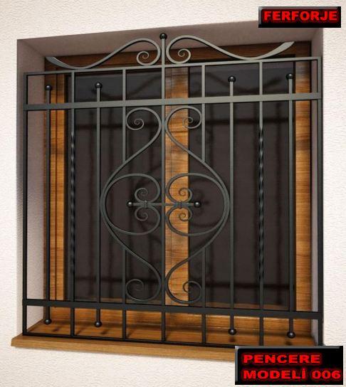 pencere cumbaları, ferforje pencere korkulukları, pencere demirleri, ferforje korkuluk imalatı.