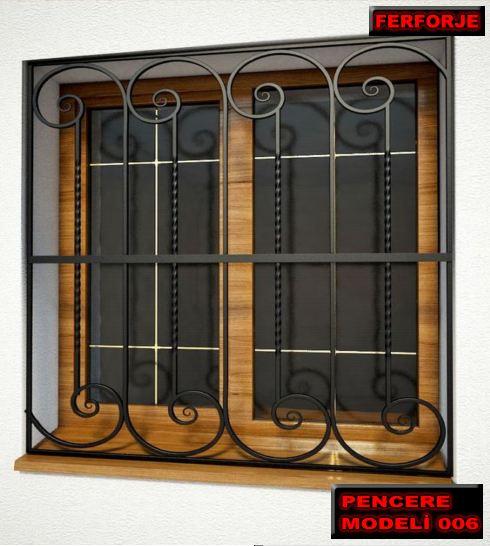Ferforje Pencere Korkuluğu, Ferforje Pencere Korkuluk Modelleri, Pencere Korkulukları,